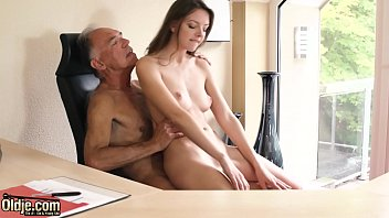 Teen pussy is better than Viagra pill and makes older boss horny at the office