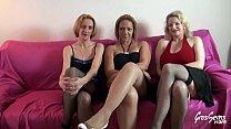 Cindy, Carola et Louise les jolies salopes essayent d'épuiser Rick 15 min