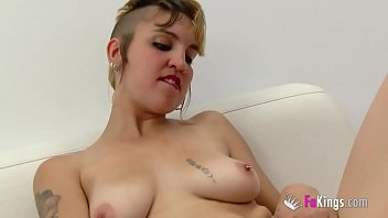 Pincess Punk inserts lots of toys into her hairy pussy