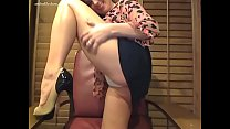 Amber Lily high heels and solo masturbation