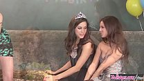 Sweet 18 Birthday Girl Party lesbian threesome - (Georgia Jones, Marie McCray, Shyla Jennings) - Twistys
