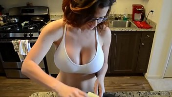 Amateur sluty MILF with big tits gets fucked and creampie 8 min