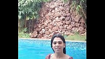 Mallu girl t. without underware in swiming pool