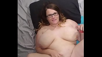 Bbw huge tit wife fucked and cum on face, tits and belly 8 min