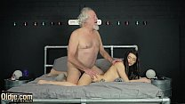 Hardcore cock sucking and pussy fucking for y. from old man