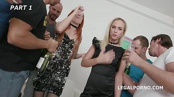 Monika Wild & Krystal Kaytlin have an orgy with Balls Deep Anal and DAP