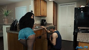 """Lonely Latina housewife fucks the """"plumber"""" while husband is at work"""