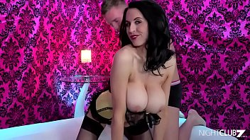 Lingerie clad Louise Jenson loves it from behind