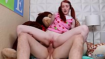Little GINGER STEP-SIS in BRACES - She Got Penetrated