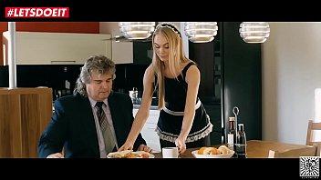 LETSDOEIT - Stunning Blonde Maid Gets Fucked In SchoolGirl Uniform (Nancy A) 11 min
