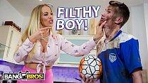 BANGBROS - English MILF Rebecca More Fucks Her Filthy Step Son Sam Bourne