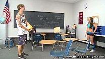 InnocentHigh Perky tits tattooed volleyball athlete classroom fucked