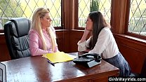 Milf and young student turn lesbian