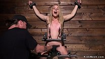Blonde squirter fucked with dick on a stick 5 min