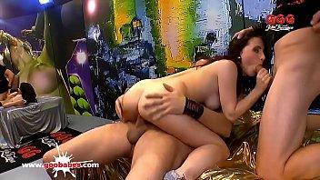 Super hot amateur teen Lia Louise gangbanged - German Goo Girls