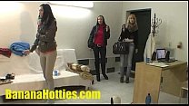 Three teens and one dick at the casting