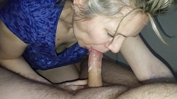 hanysy hot 43 year old milf is doing a blow job cum in mouth 9 min