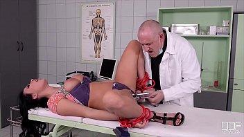 Kinky BDSM roleplay & hardcore strap-on action with Anjela Vidal & Amirah