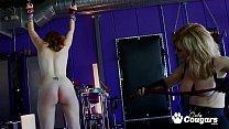 Mature Pornstar Nina Hartley Spreads Charli Peper's Pussy Open