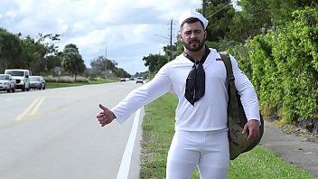 GAYWIRE - Bruce Beckham Fucks Derek Bolt, The Hawt Hitchhiking Sailor