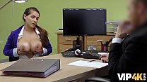 VIP4K. Babe passes dirty casting in the loan office to get money