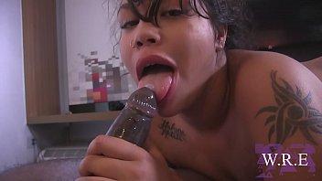 Latinas Blaze & Bianca Sucking off their Boss Cock