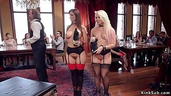 Squirting Milf banged at bdsm party