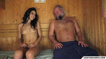 sauna with grandpa