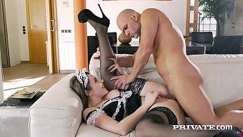 Private.com - Horny Maid Sofia Curly Gets Boss Cum Facial!