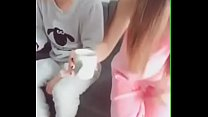 Asian Cute Girl Giving Blowjob to Lover
