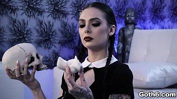 Gorgeous Gothic slut Marley Brinx is ready for some sex adventure with her horny boyfriend Markus Dupree.