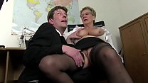 Free version - Mom wants cock and immediately takes the cock of her son and cousin to draft 18 min