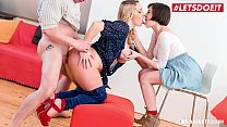 MY NAUGHTY ALBUM - Photoshoot Audition Threeway FFM (Victoria Summers & Anabell)