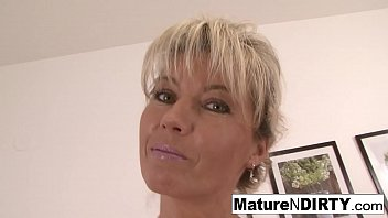 Blonde granny wants a big cock in her hairy pussy 7 min