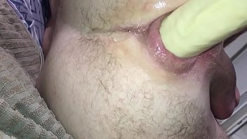 Anus suction cup and dildo anal fuck 3 min