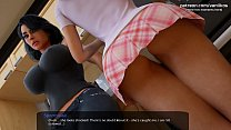 Two horny twins with hot big asses blowjob and footjob l My sexiest gameplay moments l Milfy City l Part #27
