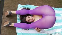 Anabelle Pync and Arielle Lane model tight yoga pants and sheer leggings