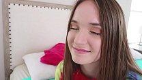 Cute Brunette Stepsis (Hazel Moore) Jerks Off Her Big Dick Stepbro