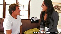 Incredibly HOT Cali chick strips down fuck a rough fuck on the couch