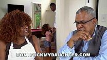 DON'T FUCK MY DAUGHTER - Ebony Teen Kendall Woods Sucks Dick Behind Parents' Backs 11 min