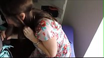 Wife jerks off BBC in her mouth while hubby watches