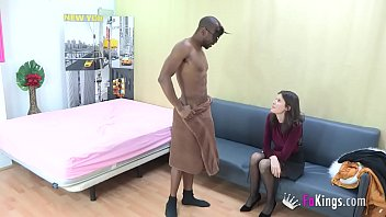 Babe came only to hire a stripper, but SHE HAD TO TRY DAT BLACK COCK!