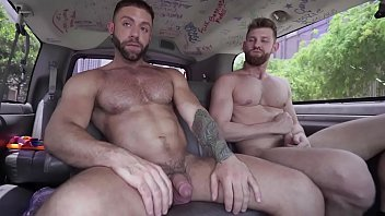 BAIT BUS - Eddy Ceetee Takes Jacob Peterson's Str8 Bait Big Dick Up His Gay Ass
