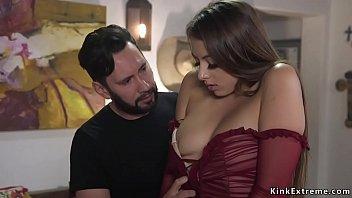 Gia Derza anal fucked in rough bondage