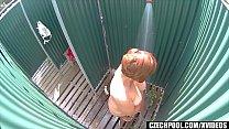 Busty MILF Spied in Public Shower