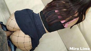 Hot schoolgirl in skirt without panties fucks with teacher