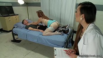 Shemale doctor and nurse fuck patient