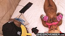 Turned On By You Watching My Enormous Udders And Massive Nipples I Bare My Busty Ebony Chest For You All, Alluring Fit Geek Msnovember on Sheisnovember 4k
