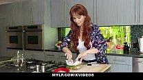 MYLF - Redhead Milf (Syren De Mer) Gives Blowjob To Her Big Dick Stepson