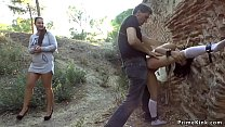 Spanish slut fucked outdoor in public